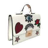 Sacchetti di Crossbody della borsa della cartella del sacchetto di spalla del cuoio sintetico delle donne di modo LC-023 con ricamo bello