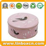 Contenitore di regalo del metallo che impacca gli stagni della torta rotonda per memoria dell'alimento