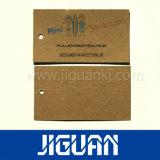 Spatie van het Document van Kraftpapier van de douane hangt de Bruine Markering
