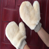 Reinigungs-Produkt-Beschwichtigungsmittel herauf Lammwolle-Auto-Wäsche-Handschuh