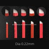 眉毛のパーマのためのDia 0.18、0.20の、0.22の0.25mmの医学等級の標準Microbladingの適用範囲が広い刃はすべてのタイプのためのOEMを構成する