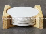 Stampa di ceramica bianca in bianco del sottobicchiere qualsiasi immagini