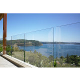 Traliewerk van het Glas van Frameless van het Balkon van Australië het Standaard Openlucht met Verklaard Ce