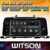 Witson WindowsのKIA K5 2016年の無線のステレオDVDプレイヤー
