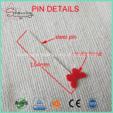 Envio gratuito 44mm Estilo Verious cores sortidas cabeça de borboletas de plástico Pino Reto de costura de retalhos de Aço