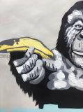 Het dierlijke Schilderen van de Kunst van het Canvas van het Olieverfschilderij van de Hand voor het Decor van de Muur