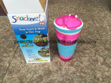 Tazza di plastica dell'acqua della frutta della tazza di isolamento dello spuntino della bevanda