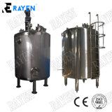1000 litros galões de líquido de aço inoxidável alimentar sanitárias sumo de bebidas água quente de leite do tanque de armazenagem de mistura de isolados Vertical