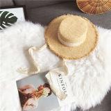 卸し売りカスタムペーパーソフト帽の麦わら帽子浜の女性