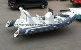 Barco de pesca inflável do reforço do barco da casca rígida de Liya 19feet