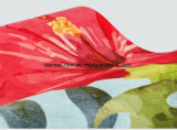 Custom полноцветную печать натуральный резиновый коврик для занятий йогой