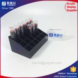 Organisateur acrylique de luxe noir et clair de rouge à lievres