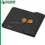 Sacoche pour ordinateur portable populaire de feutre de laines de poche de feutre de noir de chemise d'ordinateur portatif de feutre
