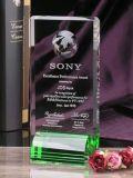 Premio di cristallo reso personale del trofeo, trofei di cristallo con il globo