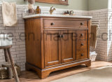 Gabinete ereto da vaidade do banheiro do assoalho americano da madeira contínua do estilo (ACS1-W80)