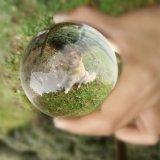 Bola de cristal transparente de cristal personalizado Giftspicture artesanal en el interior del cristal con corte láser