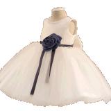 Robe ene ivoire de fille de Tulle de proue pour le mariage