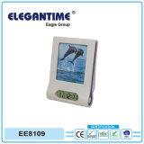 Индикация часов LCD фабрики с заказами OEM рамки и поддержки фотоего