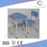 青いシンプルな設計学生の机および椅子の教室の学校家具(CAS-SD1831)