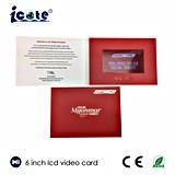 Promuovere opuscolo dell'affissione a cristalli liquidi dello schermo da 6 pollici il video - video scheda - video in stampa