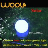 Solar-Würfel-Kugel-Stein LED-RGB heller dekorativer für im Freien verwendet