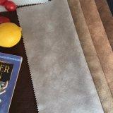 Tessuto piano scuro del velluto del sofà del tessuto in pelle scamosciata