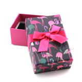 Commerce de gros logo personnalisé sur papier rose un emballage cadeau Box