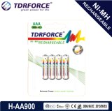 1.2V再充電可能で低い自己放電NIMH中国Fatory電池(HR03-AAA 900mAh)