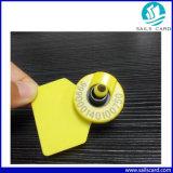 Бирка уха Hf квадратная RFID животная с ABS для отслеживать