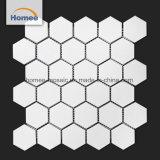 La decoración interior blanca mate mosaico Mosaico mosaicos de cerámica hexagonal