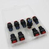 D16-H1r0l 16mm 원형 LED 형광 근원 신호 램프 표시기