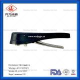 Vleugelklep van Munual van SMS/DIN/3A/Rjt de Pneumatische Sanitaire