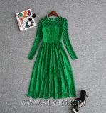 2018 Dernières femmes robe dentelle robe du soir