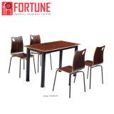 Nuova Tabella di legno moderna scura della mobilia del Brown Restaurantr per 4 Perpon (FOH-BC19)