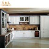 Hölzerne Korn-Melamin-Ende-Laminat-Küche-Möbel