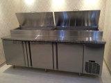 Ресторан счетчик Saladette холодильник, нержавеющая сталь Undercounter холодильник с подготовки поверхности стола