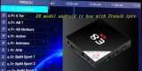 L'arabe androïde de cadre de l'androïde 6.0 IPTV de faisceau de quarte du cadre E8 Amlogic S905X de TV