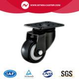 Gebremste Platten-Schwenker PU-industrielle Fußrolle