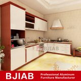 El Roble blanco y amarillo metal moderno mobiliario de madera de sándalo Inicio Gabinete de cocina de aluminio