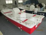 Liya 19pies marinos fuera de borda de fibra de vidrio en barco de pesca Panga
