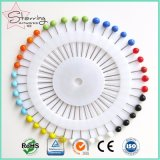 Pin droit en verre rond coloré décoratif de couture de Pin de tête pour la couture