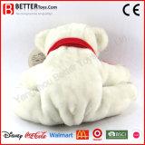 Juguetes suaves del animal relleno del oso polar de la felpa para los cabritos del bebé