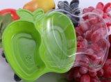 Caixa transparente descartável da fruta de três grões