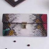 중국 Al332에 있는 최신 판매 여자 부대 가죽 지갑 다색 뱀 패턴 지갑 핸드백 공장