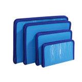 Büro-Briefpapier-kundenspezifischer Reißverschluss-Plastikdokumenten-Fall mit dem Nähen