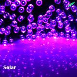 Luz psta solar da corda da decoração ao ar livre com cores diferentes