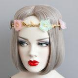중국 도매 꽃 화환 머리띠, 소녀 선물 모조 꽃 화환