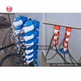 Переработка пластиковой пленки HDPE линия по производству окатышей/машины для измельчения (дважды).