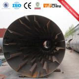 Os chips de madeira de serragem industrial secador rotativo para venda