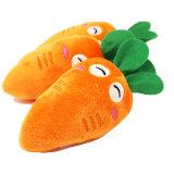 Zanahoria corta de la felpa que mastica el juguete para los gatos del animal doméstico